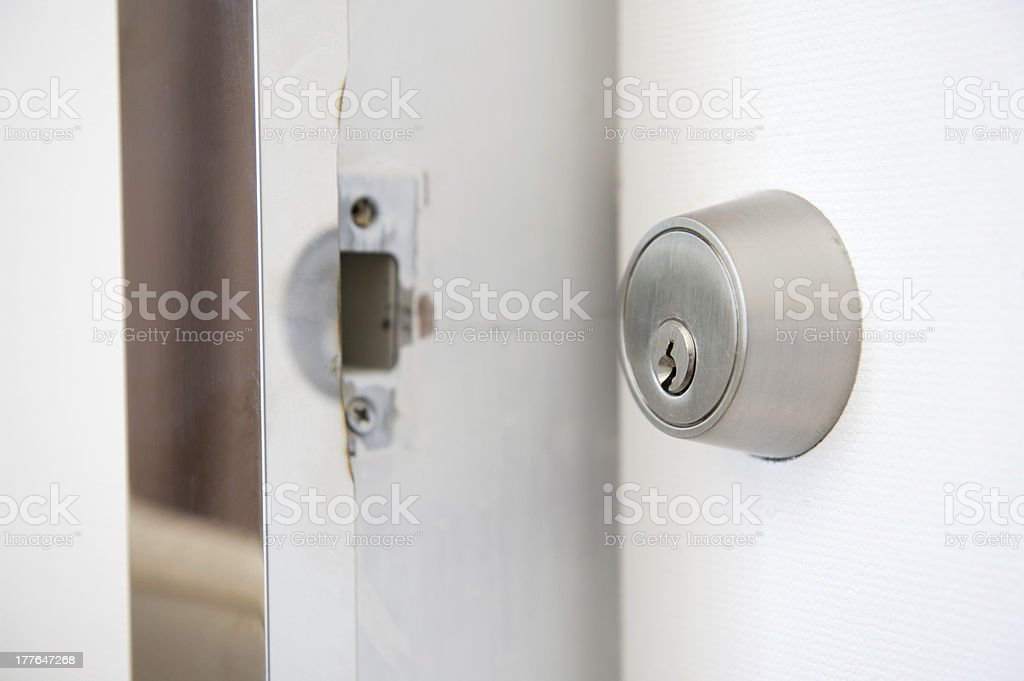 Close-up of Door Lock royalty-free stock photo
