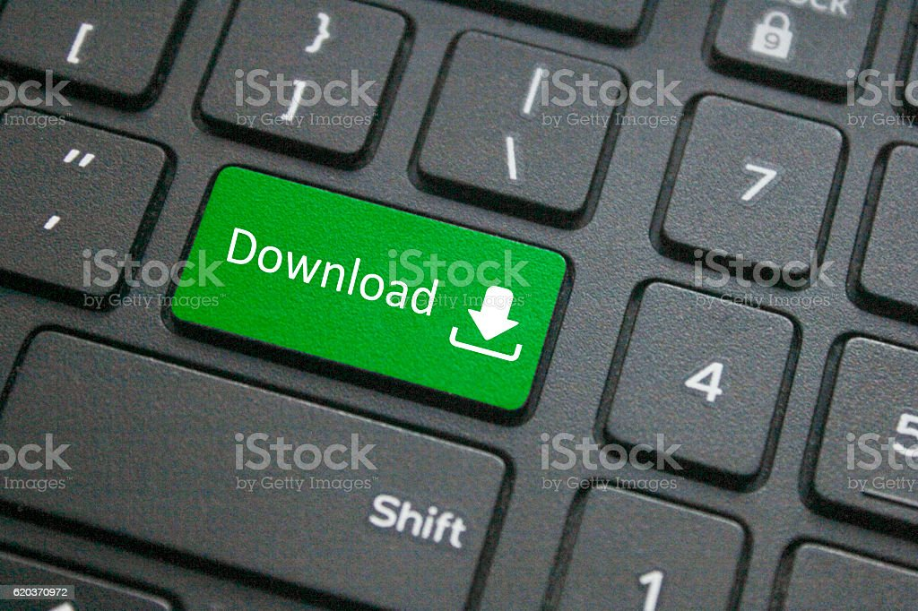 Close-up of download key foto de stock royalty-free