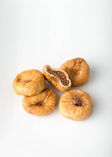 Close-up of dried Greek flat string figs stock photo