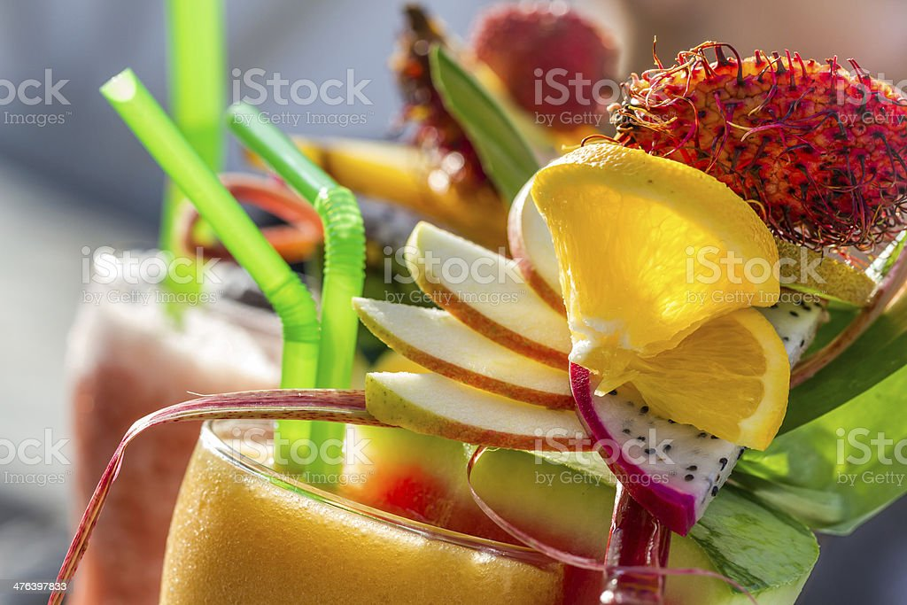 Closeup of drink with watermelon royalty-free stock photo