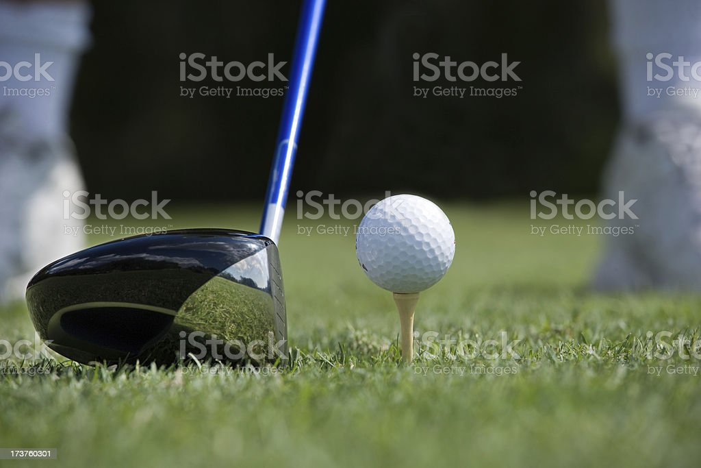 close-up of driver  preparing to tee off royalty-free stock photo
