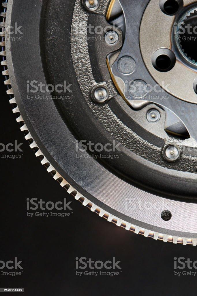 Closeup of Dual-Mass Flywheel stock photo