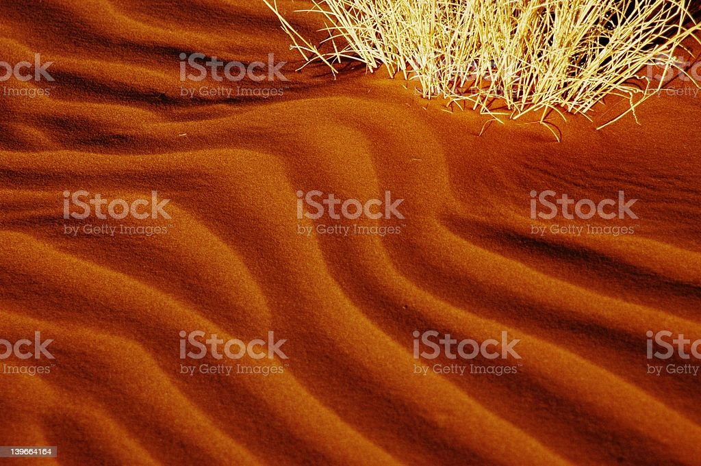 Close-up of dune ripples, Namibia royalty-free stock photo