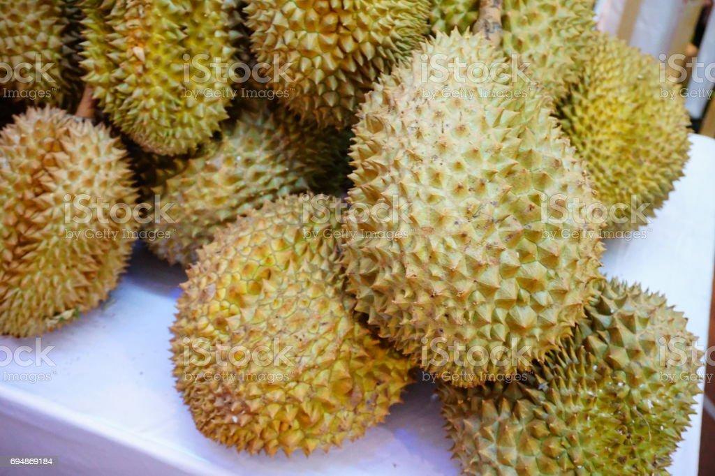 Close-up of Durian fruit stock photo
