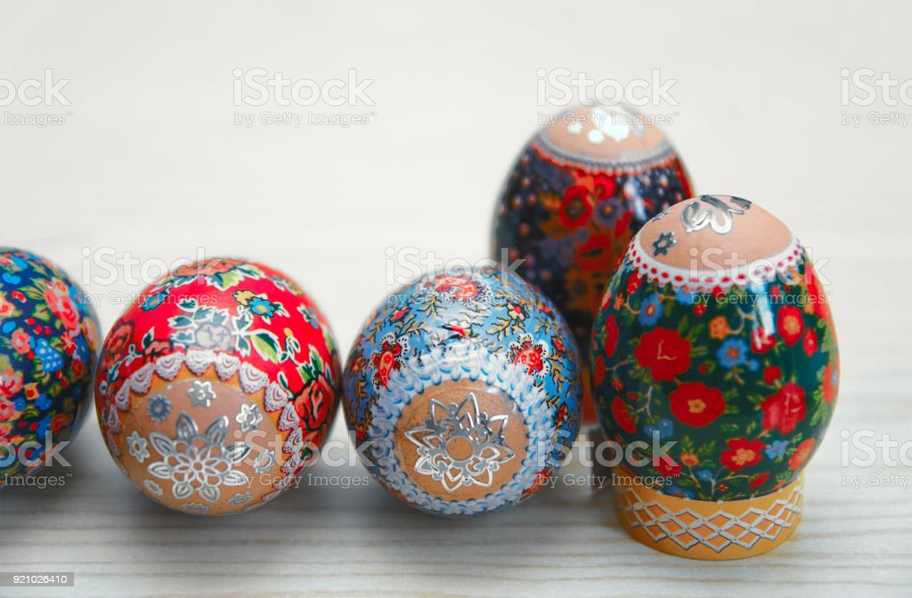 Close-up of Easter egg stock photo