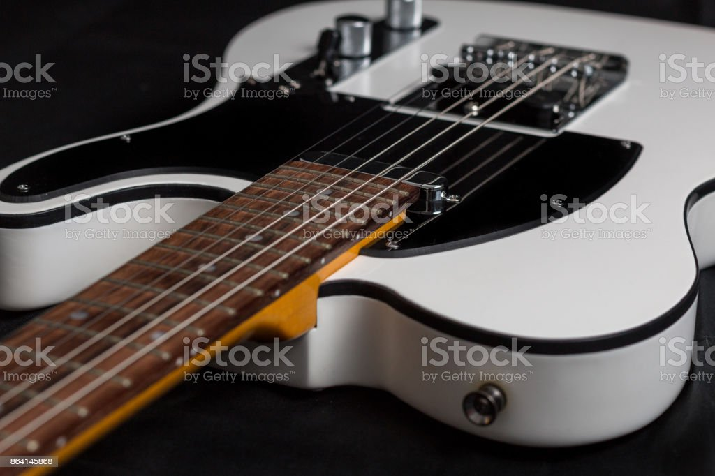Close-up of electric guitar royalty-free stock photo