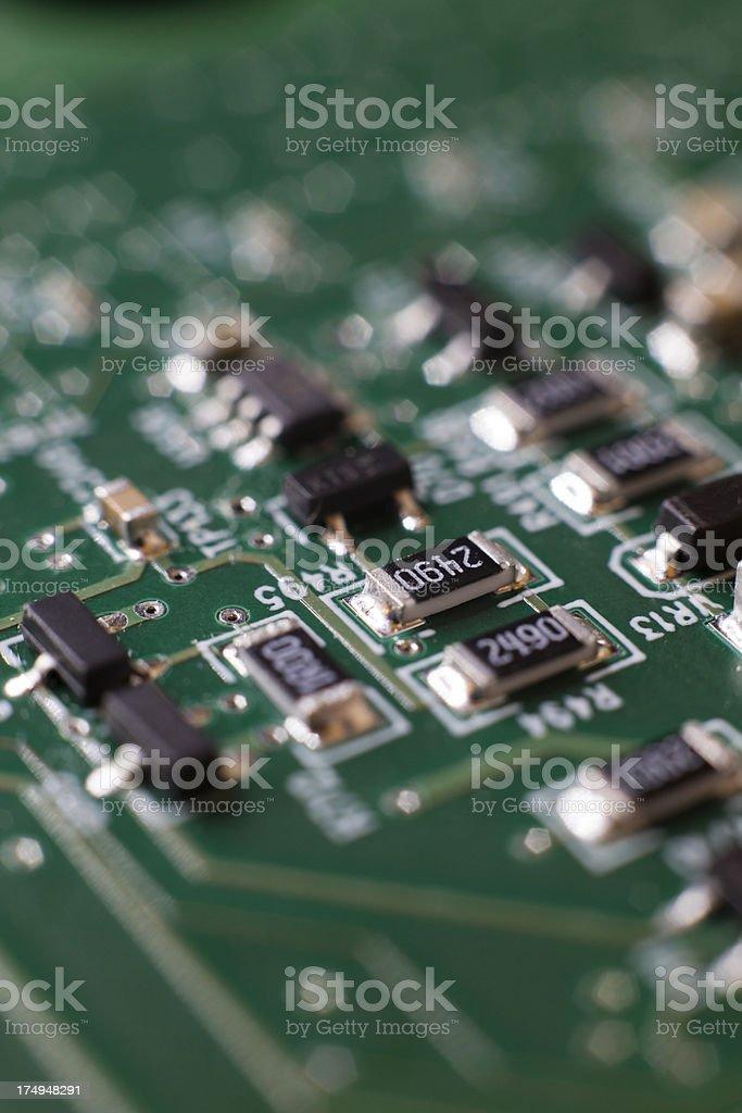 Closeup of Electronic Circuit stock photo