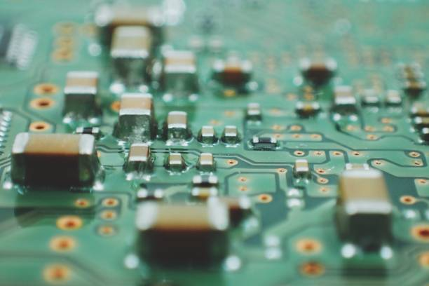 closeup of electronic part with PCB circuit board