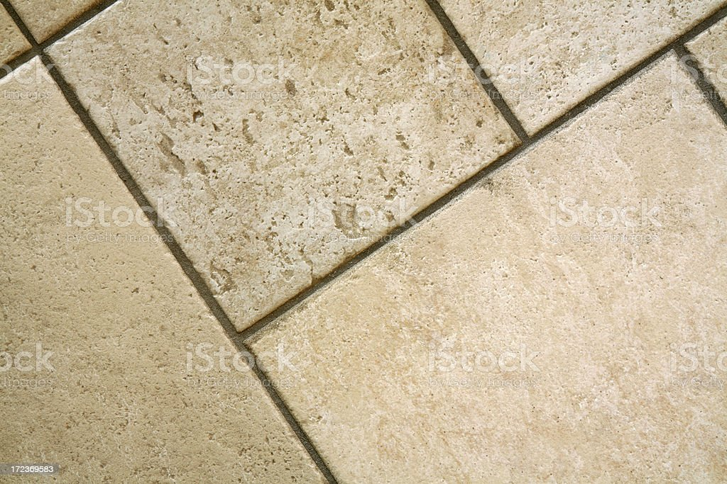 Close-up of empty ceramic Italian floor tiles, diagonal royalty-free stock photo