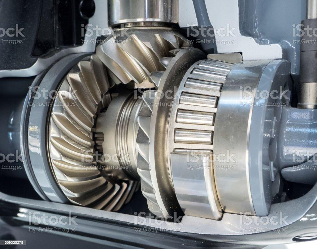 Closeup of engine gear stock photo