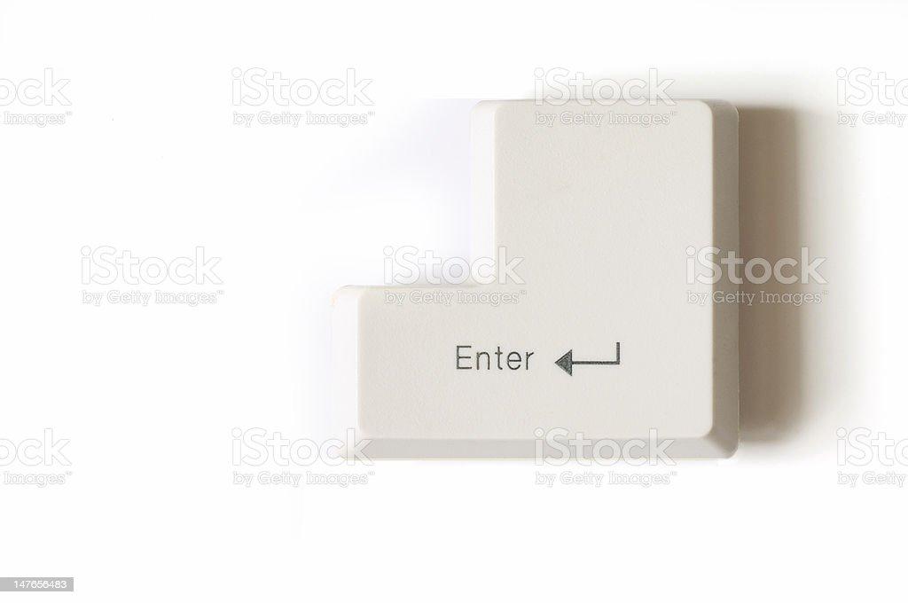 Closeup of enter key royalty-free stock photo