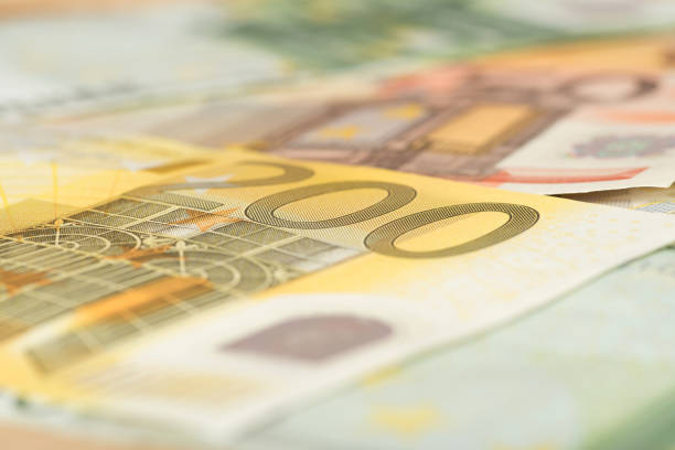 Close-up of Euro banknotes Nahaufnahme von Euro Geldscheinen debt ceiling stock pictures, royalty-free photos & images