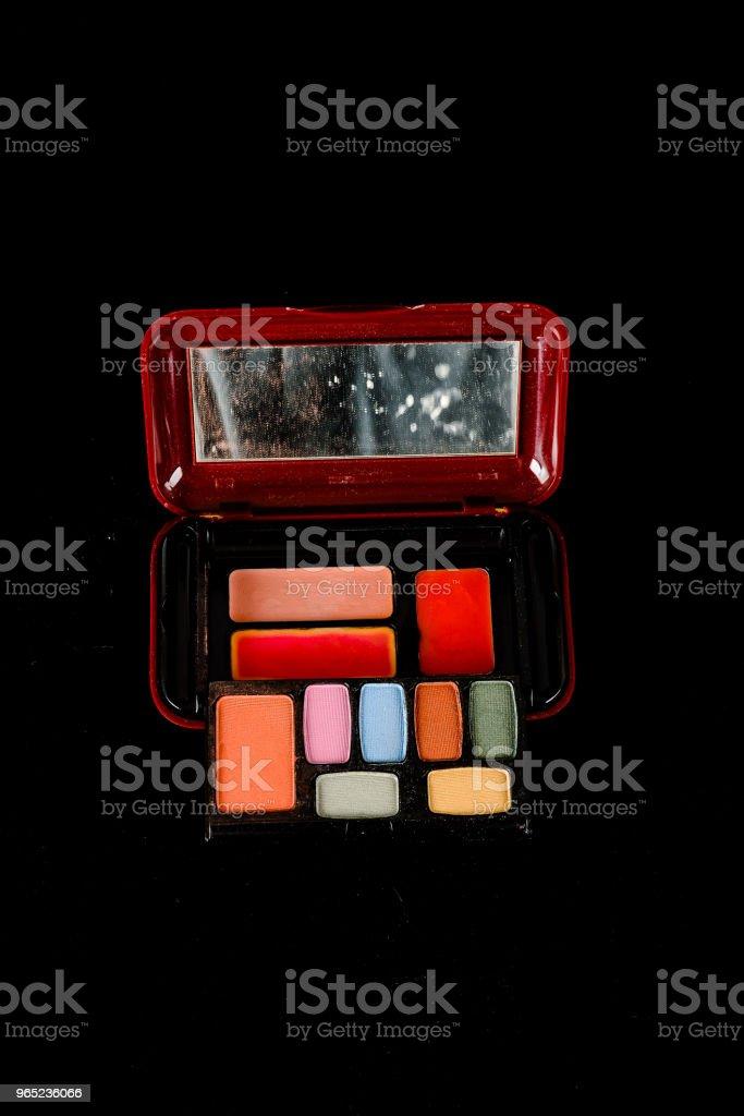 Close-up of eyeshadow box royalty-free stock photo