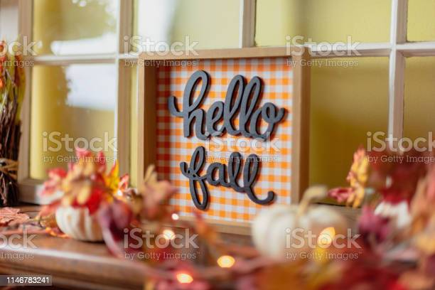 Closeup of fall decorations on mantel picture id1146783241?b=1&k=6&m=1146783241&s=612x612&h=hixeppvypjed8uskxgpl5ad49eeidya15shte47pahi=