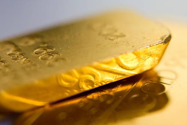 Nahaufnahme der schönen gold ingots – Foto
