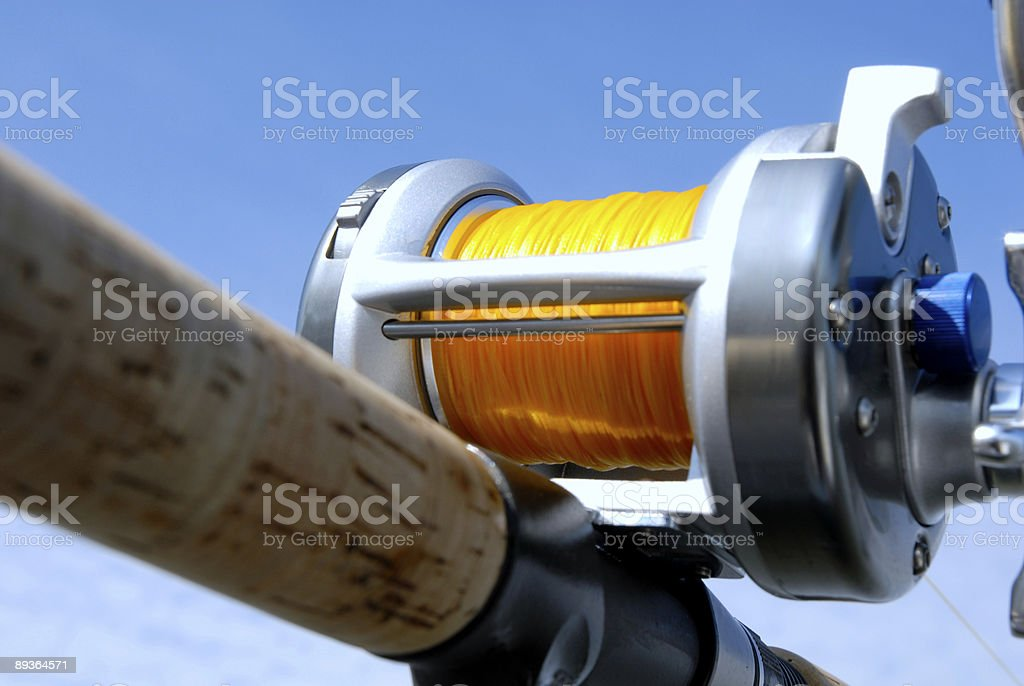 Close-up of Fishing Reel stock photo