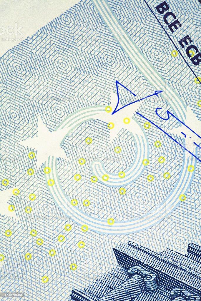 Nahaufnahme von Fünfeuroschein/Business und Finanzen – Foto