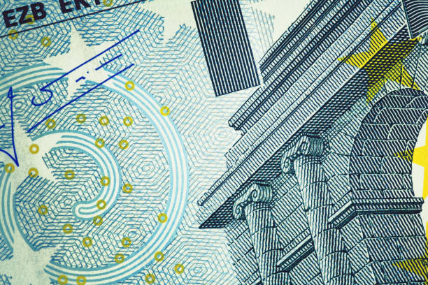 Close-up of Five Euro Banknote | Finance and Business Close-up of Five Euro Banknote. High resolution photo taken with Canon 5D Mark II and Sigma lens. euro symbol stock pictures, royalty-free photos & images