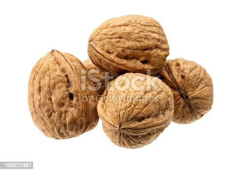 Walnuts on White.