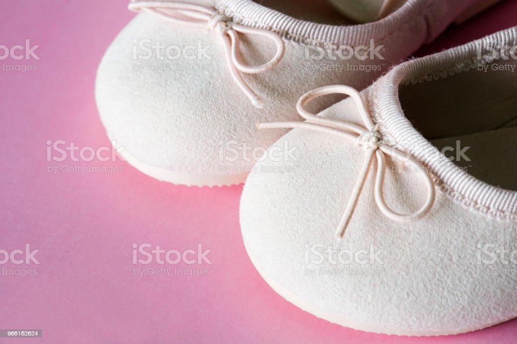 Closeup of flat shoes kids - Royalty-free Baby - Human Age Stock Photo