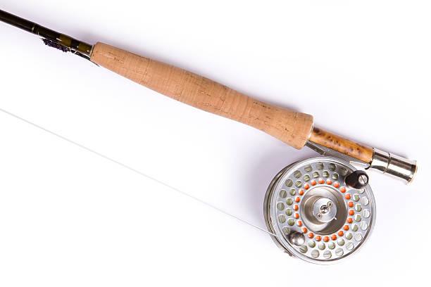 Nahaufnahme von Fly Fishing Rod und Spule – Foto