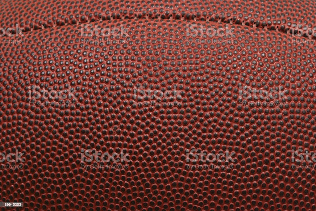 Close-up of football with seams stock photo