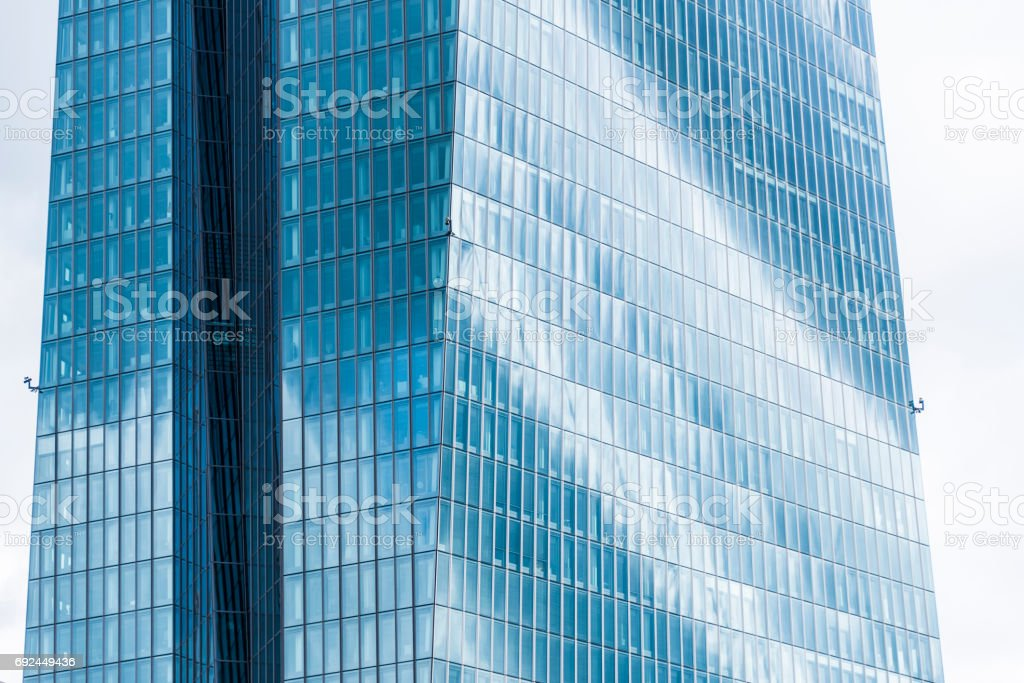 Closeup of Frankfurt Skyscraper stock photo