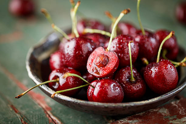 Close-up of fresh Cherry stock photo
