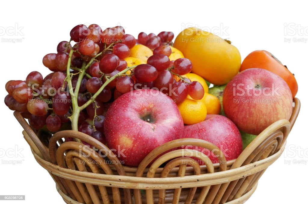 Closeup of Fresh mixed fruits for eat stock photo