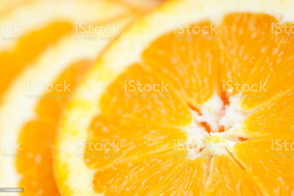Close-Up of Fresh Refreshing Juicy Organic Orange Rings royalty-free stock photo