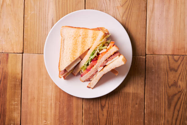 Close-up of fresh sandwich stock photo