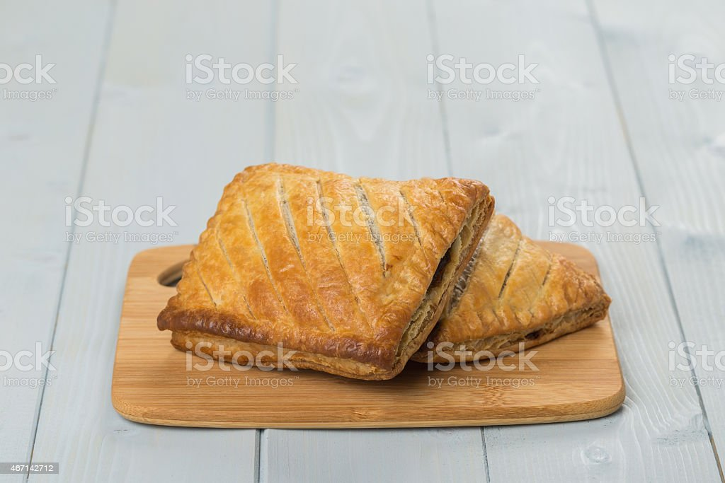 Closeup of freshly made pastries stock photo
