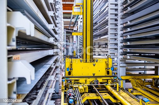 istock Close-up of fully automated warehouse system 1002264388