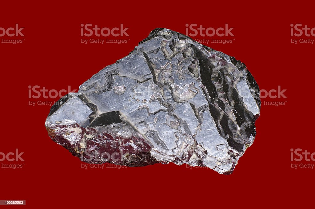 close-up of galenite (lead glance) stock photo