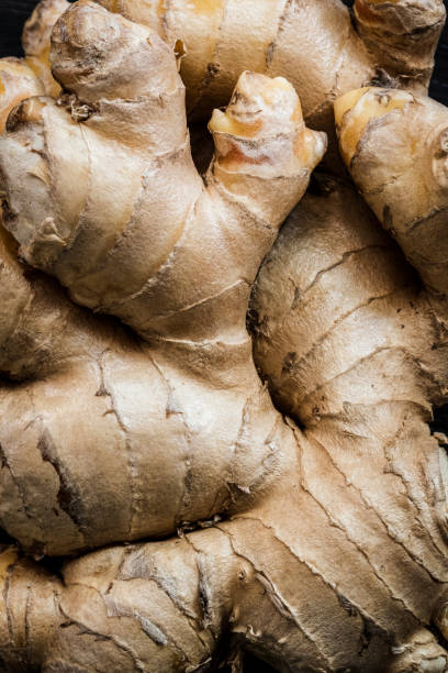 Close-up of Ginger stock photo