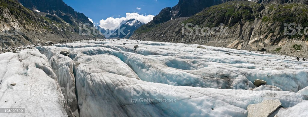 Close-up of Glacier on Mountain royalty-free stock photo