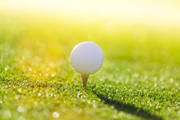 Close-up of golf ball stock photo