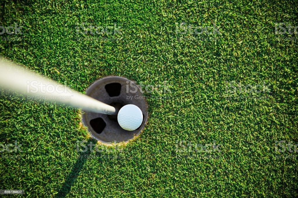 Close-up of golf ball stock photo