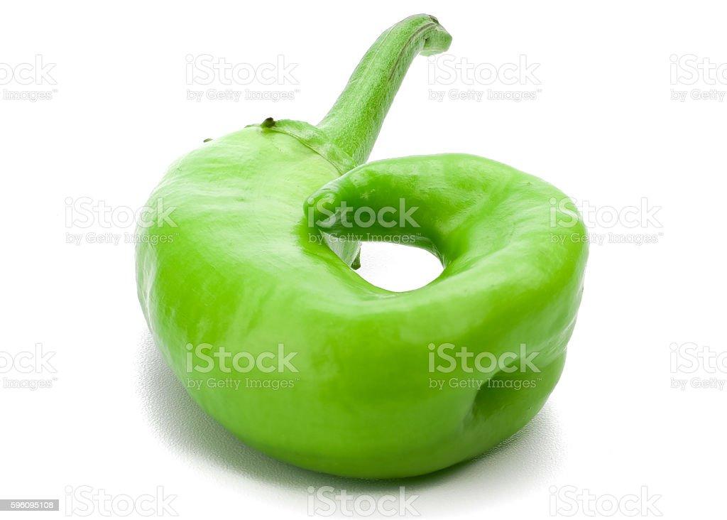 Closeup of green chili royalty-free stock photo