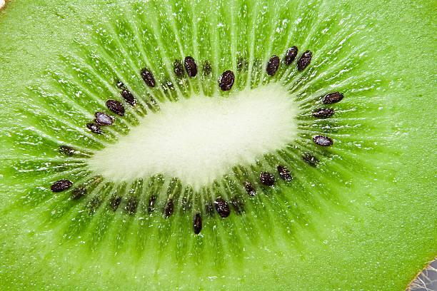 Nahaufnahme der grünen reichen kiwi – Foto