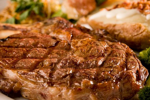 Tiras de carne - foto de stock