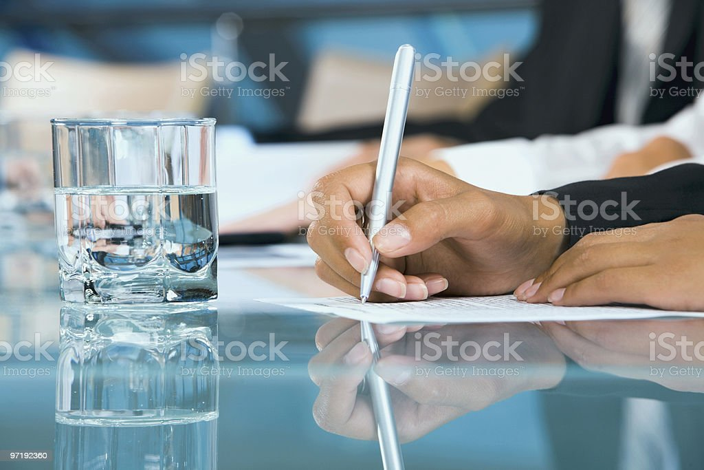 Close-up of  hand royalty-free stock photo