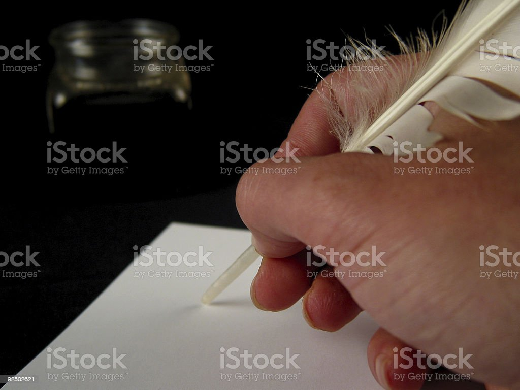 Close-up of hand writing (serie) royalty-free stock photo