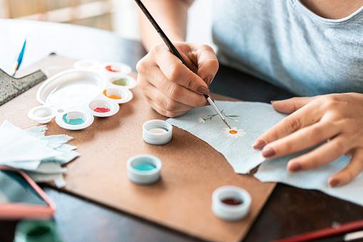 Hands, Handmade, Painting, Business, Fabric artist