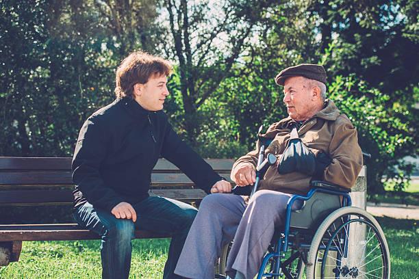 Closeup of happy senior man in wheelchair and grandson outdoors picture id505990046?b=1&k=6&m=505990046&s=612x612&w=0&h=vtx6lhyqhisuzvcfgrtu bjrr948kezi7avdigd0ube=