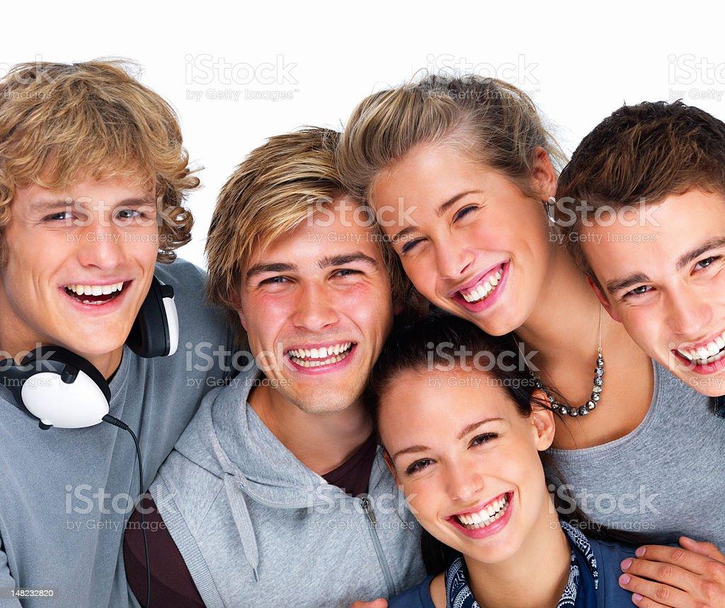 Nahaufnahme der glückliche junge Männer und Frauen Lizenzfreies stock-foto