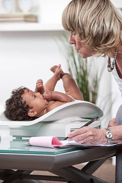 Nahaufnahme der verfügbaren professionelle Bewertung Baby's Development – Foto