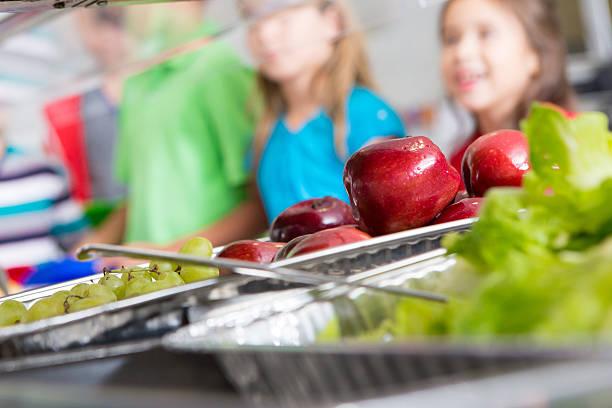 Closeup of healthy food in a school cafeteria lunch line picture id175193855?b=1&k=6&m=175193855&s=612x612&w=0&h=ekt6pdcnz quujn4xbybykhqirwz0 y3hylwkemrips=