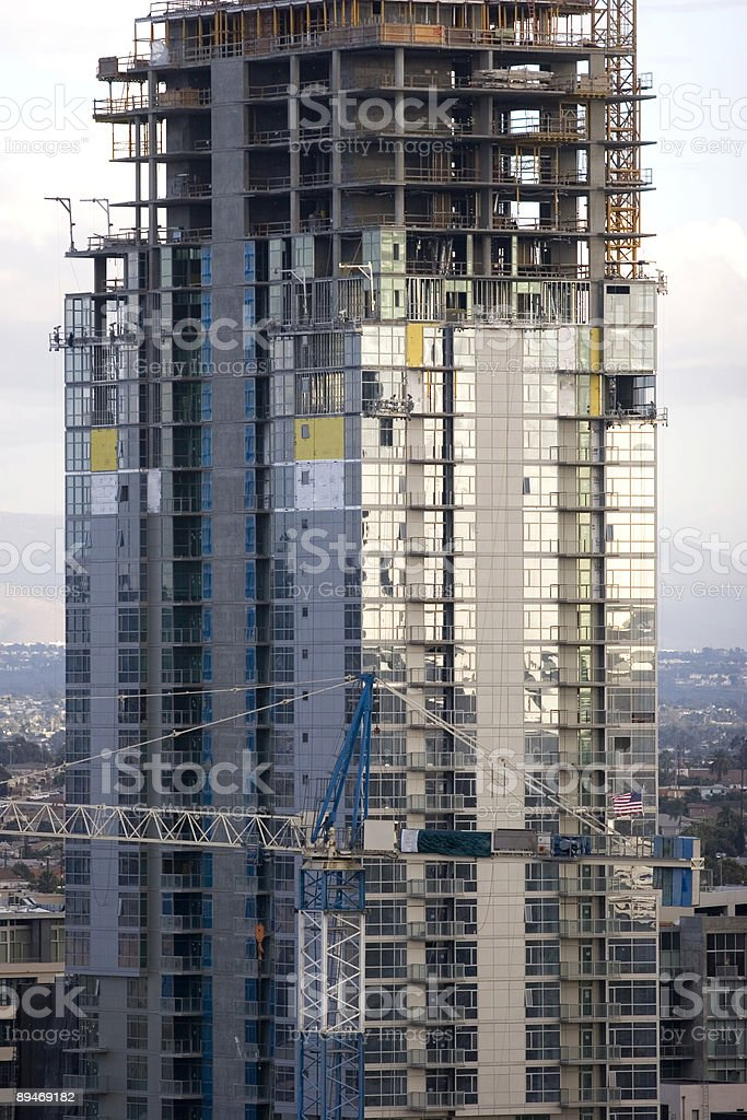 Closeup of Highrise Under Construction royalty-free stock photo