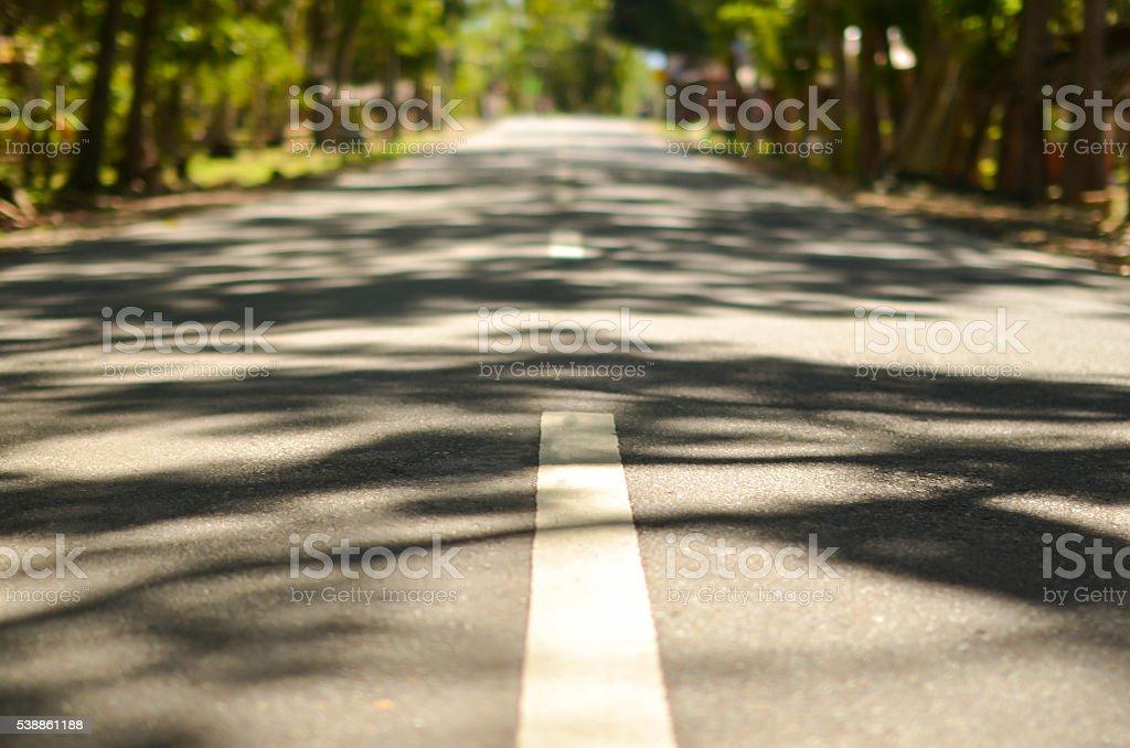 Closeup of higway dividing line photo stock photo